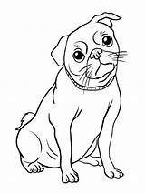 Pug Coloring Printable Dog Puppy Cartoon Sheets Sheet Coloringcafe Para Animals Dibujos Pdf Colorear Paper Outline Drawings Animal Printables Stamps sketch template