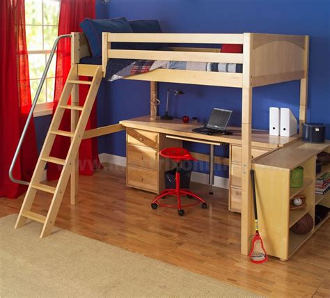 maxtrix high loft bed med low bed ends w angled ladder