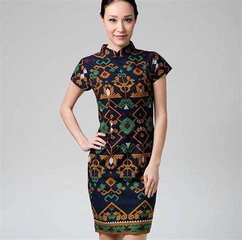 a batik and tenun batik dress bali modern cantik batik wanita
