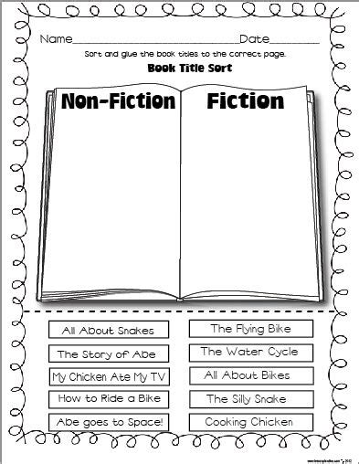 25+ Best Ideas About Fiction Vs Nonfiction On Pinterest  Fiction Anchor Chart, Reading Anchor