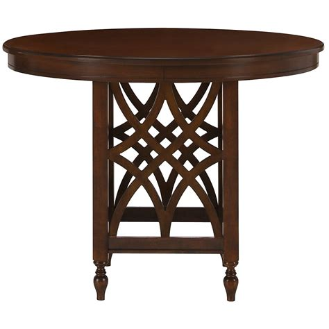 high round dining table city furniture oxford mid tone round high dining table
