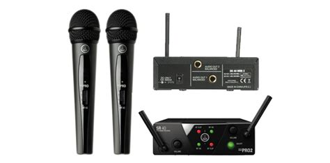 stand microphone vocal akg wms40 mini dual vocal set wireless microphone