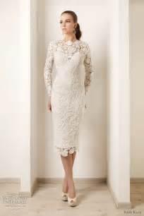 ivory lace bridesmaid dresses 2015 wedding dresses ivory lace sleeves tea length sheath bridal gowns 2015 wedding