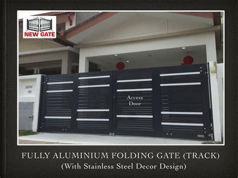 fully aluminium folding gate track stainless steel decor design