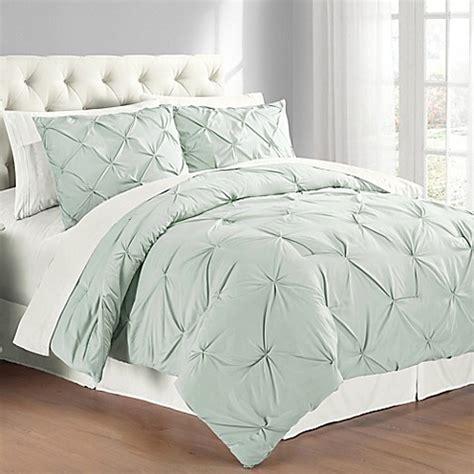buy pintuck king comforter set  mist blue  bed bath