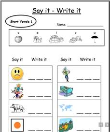 Free Printable Kindergarten Worksheets CVC Words