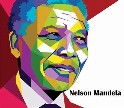 Mandela Nelson Clipart Rolihlahla Graphic Face Illustration