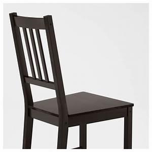 Chaise Noire Ikea : stefan chaise brun noir ikea ~ Teatrodelosmanantiales.com Idées de Décoration