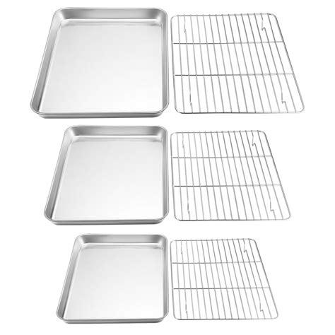 baking rack stainless sheet steel cooling cookie pans aluminum