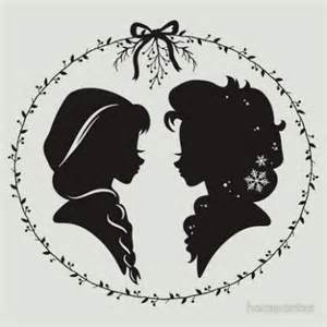 Anna and Elsa Disney Silhouette