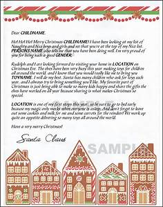 mail santa letter gingerbread With mail santa a letter