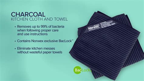 norwex color story charcoal kitchen set  envirocloth