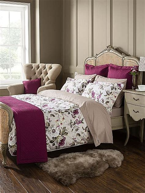 Christy Orchid Bed Linen In Plum  House Of Fraser