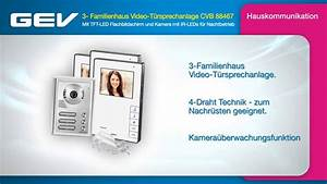 Gev Video Türsprechanlage : gev 3 familienhaus video t rsprechanlage cvb 88467 youtube ~ Orissabook.com Haus und Dekorationen