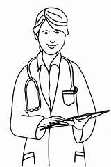 Nurse Coloring Printable sketch template