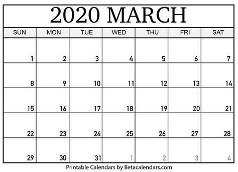 blank march  calendar printable beta calendars