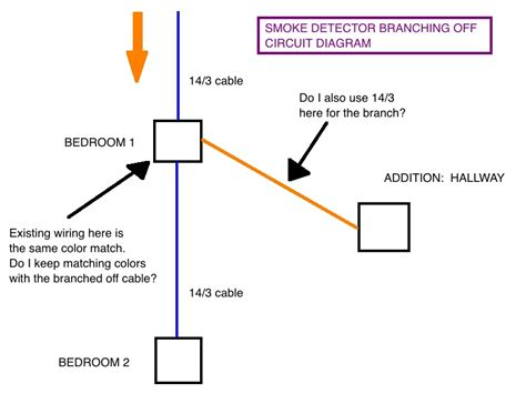 Smoke Detector Electrical Wiring by Wiring Smoke Detector Branched Existing Box