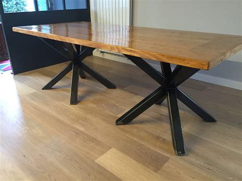 table cuisine style industriel davaus table de salon industriel avec des idées
