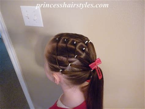 square elastic hairstyle hairstyles  girls