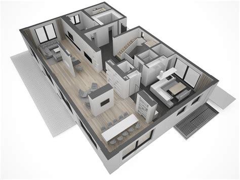 grundriss villa modern moderne villa grundriss 3d