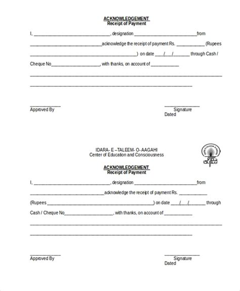 free 8 sle payment receipt forms in word pdf excel