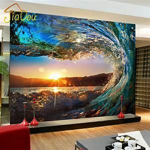 Custom Photo Wallpaper Modern Large Mural Living Room Sofa ...