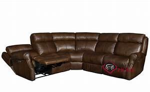 Quick ship mcgwire by bernhardt leather true sectional in for Bernhardt leather sectional sofa prices