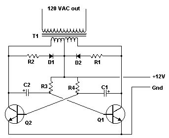 Electronic Vdc Vac Inverter Circuit Diagram