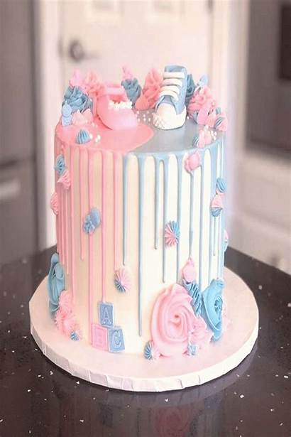 Reveal Gender Cakes Cake Simple Shower Inspirations
