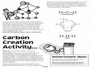Carbon Creating Activity Worksheet For 2nd