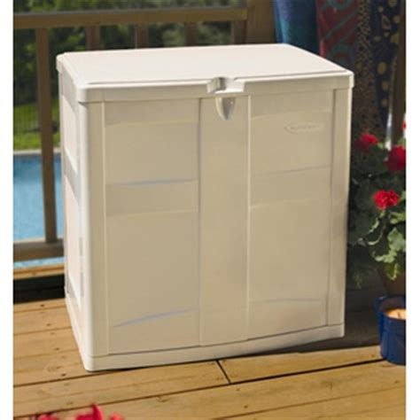 Suncast Vertical Deck Box Shelf by Suncast 174 Balcony Storage Box 138450 Patio Storage At