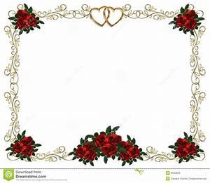 Red Roses Border Wedding Invitation Stock Photos - Image ...