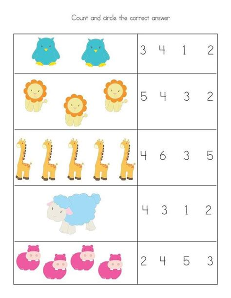 free preschool kindergarten simple math worksheets 3