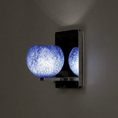 blue glass sconce wac rhea led wall sconce w blue glass shade in brushed