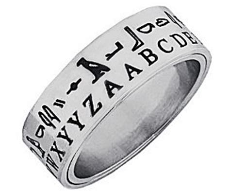 Hieroglyph Translator Ring  Buy This Bling. Celebrity Engagement Wedding Rings. Era Wedding Rings. Class Wedding Rings. Fancy Rings. Mix And Match Engagement Rings. Hobbit Wedding Rings. Celestial Wedding Rings. Bodycon Rings