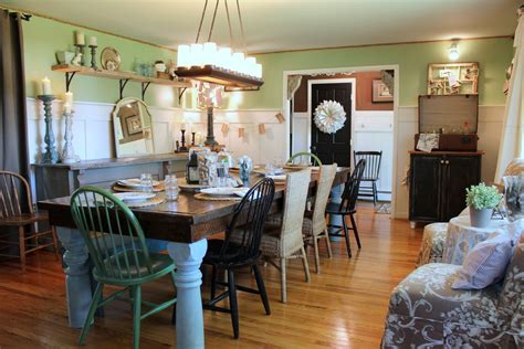 green shabby chic dining room farmhouse metal chairs dining room shabby chic style with light green half wall wicker chairs