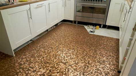 Kitchen Floor Of Pennies by Kitchen Floor Made With One Coins Storytrender