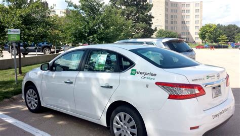 enterprise carshare offers affordable rental cars  campus
