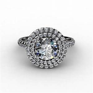 soleste double halo engagement ring With double halo wedding ring