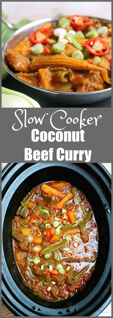 curry beef slow cooker coconut bakingqueen74 easy crockpot later