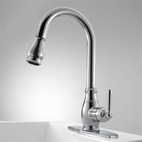 Hahn Pull Down Kitchen Faucet with Deck Plate   Kitchen