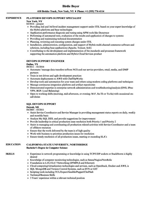 Devops Support Resume Samples  Velvet Jobs. Executive Summary Sample For Resume. Resume Description For Customer Service. Picture Of Resume. Peoplesoft Finance Functional Resume. Salesforce Developer Resume. Medical Device Sales Resume. Do I Need An Objective On My Resume. Words To Use On Resume To Describe Skills
