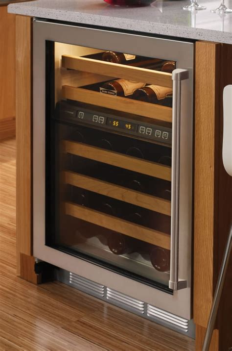wine zero sub handle undercounter door coolers storage glass zone wood compartment dual pro inch bottle stainless steel disclaimer ajmadison