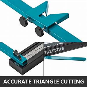 Manual Tile Cutter Cutting Machine 800mm Adjustable Hand