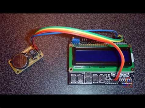Real Time Clock With Lcd Keypad Shield Over
