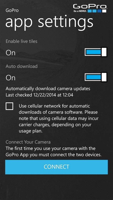 gopro app windows phone updated adds hero
