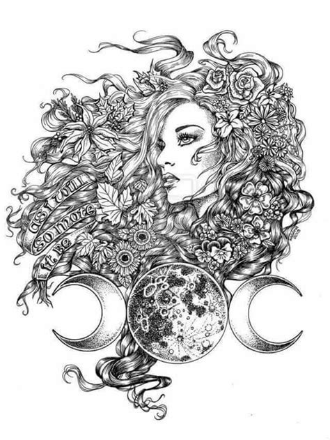 Pin by Queen Bee on Pretty Things / Art in 2019   Goddess tattoo, Wiccan tattoos, Tattoo designs