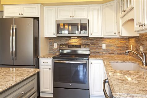 apple valley kitchen cabinets real home feature two toned apple valley kitchen remodel 4165
