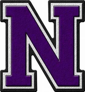 presentation alphabets purple varsity letter n With varsity letter alphabet