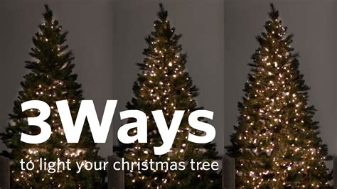 how to put lights on a christmas tree how to hang christmas tree lights 3 different ways youtube